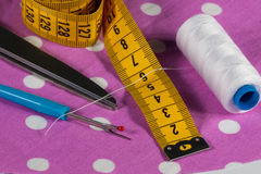 Différents outils de couture Photo libre de droits