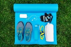 Différents outils et accessoires pour le sport Photo libre de droits