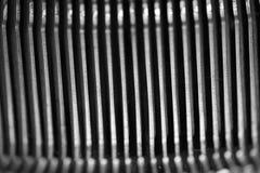 Différents petits éléments en métal d'une vieille machine à écrire Photographie stock