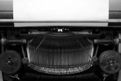 Différents petits éléments en métal d'une vieille machine à écrire Photo stock