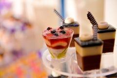 Différents petits gâteaux de gâteaux Photo libre de droits