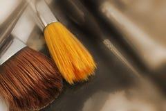 Différents pinceaux sur la palette Photo libre de droits