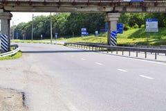 Différents poteaux de signalisation Image libre de droits