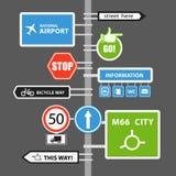 Différents signes de route Photos stock