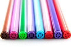 Différents stylos colorés Images stock