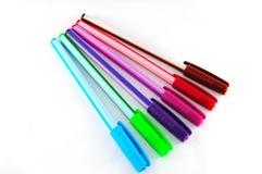 Différents stylos colorés Image libre de droits