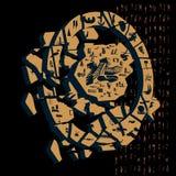 Différents symboles égyptiens d'image avec le fond Photographie stock