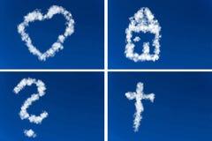 Différents symboles dans le ciel Photographie stock libre de droits