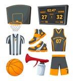 Différents symboles de sport des basket-balls Photos de vecteur réglées Illustration Stock