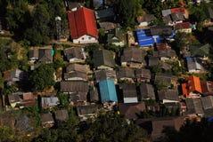 Différents toits colorés du clou Photo libre de droits