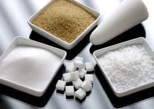 Différents tris de sucre photographie stock libre de droits