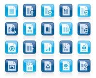 Différents types d'icônes de document Image libre de droits