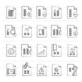Différents types d'icônes de document Photos stock