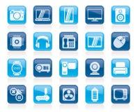 différents types d'icônes de l'électronique Image stock