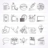 Différents types d'icônes de dépendances Image stock