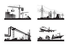 Différents types d'industries Photographie stock libre de droits