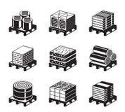 Différents types d'isolation de bâtiment illustration de vecteur