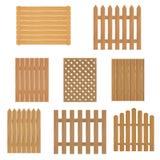Différents types de barrière en bois Barrière de bois pour votre site ou ferme Images libres de droits