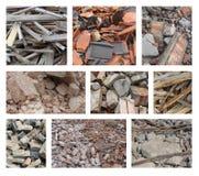 Différents types de blocaille de démolition Photos stock