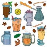 Différents types de café et de thé Illustration Stock