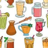 Différents types de café et de thé Illustration Libre de Droits