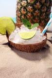 Différents types de cocktail de mojito sur la plage Photographie stock