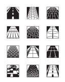 Différents types de couches de surface illustration stock