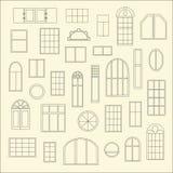 Différents types de fenêtres Photographie stock