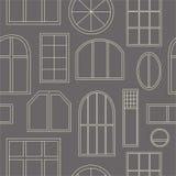 Différents types de fenêtres illustration de vecteur