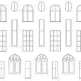 Différents types de fenêtres Photos libres de droits