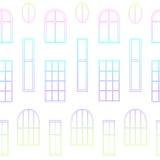 Différents types de fenêtres Images stock
