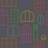 Différents types de fenêtres illustration libre de droits