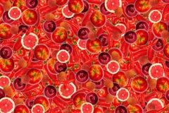 Différents types de fruits et légumes Images stock
