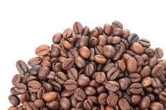 différents types de grains de café Grains de café frits Grains de café sur le fond d'isolement par blanc photo stock