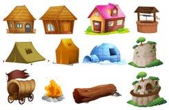 Différents types de logement illustration de vecteur