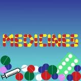 Différents types de médicaments illustration stock