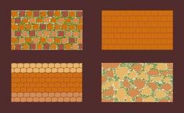 Différents types de maçonnerie illustration stock