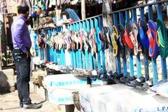 Différents types de pantoufles Photos libres de droits