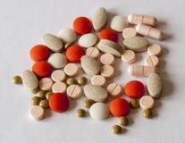 Différents types de pilules Photographie stock