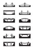 Différents types de ponts Photographie stock libre de droits