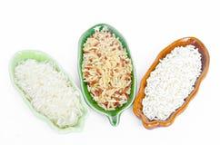 Différents types de riz Images libres de droits