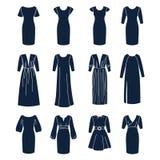 Différents types de robes de femmes avec des douilles Photo libre de droits