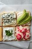 Différents types de sandwichs Photos libres de droits