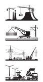 Différents types de scènes de construction illustration de vecteur