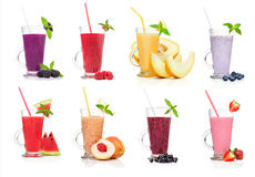 Différents types de smoothies Image stock