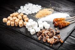 Différents types de sucre Image libre de droits