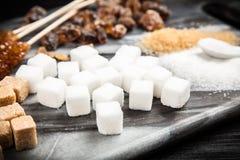 Différents types de sucre Photographie stock libre de droits