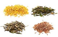 Différents types de thé Photos stock