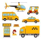 Différents types de transport de taxi Vecteur de véhicules Photographie stock