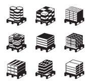 Différents types de tuiles de trottoir illustration libre de droits